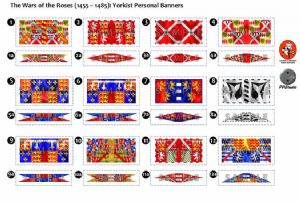 BFL3210  The Wars of the Roses (1455 - 1485): Yorkist Personal Banners